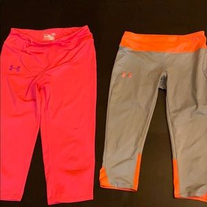 Girls  Under Amour  Capris and hoodie&long sleeve